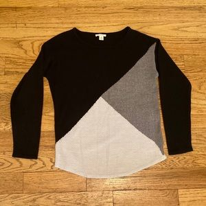 westbound monochrome colorblock sweater 🍂